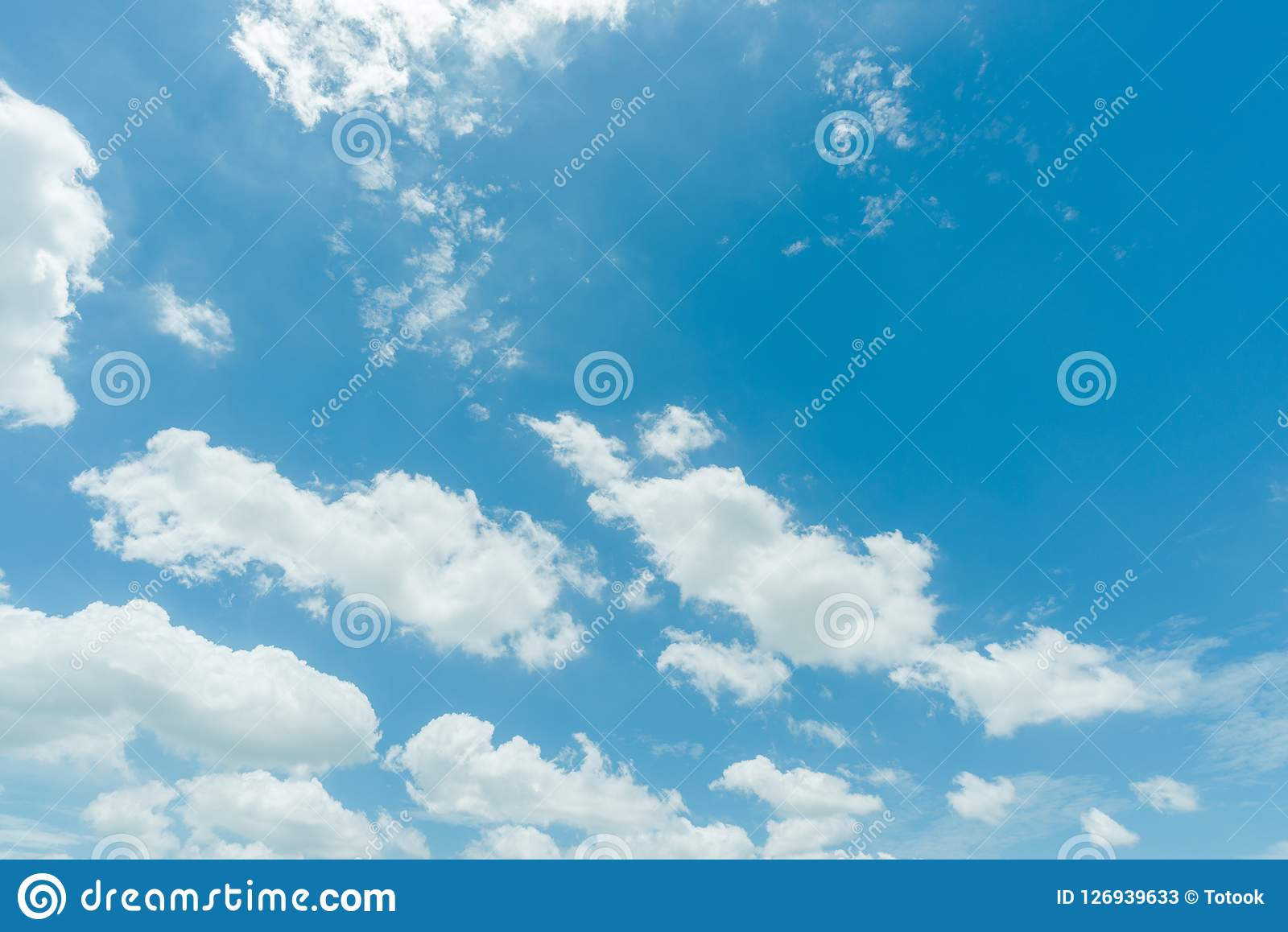 Clear blue sky background,clouds with background.  Stock Photos
