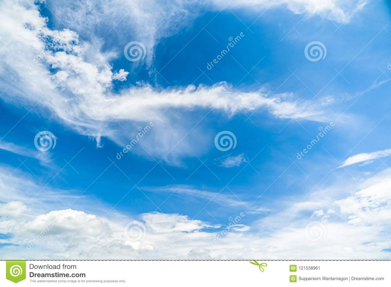 clear blue sky with clouds background stock image image of clear