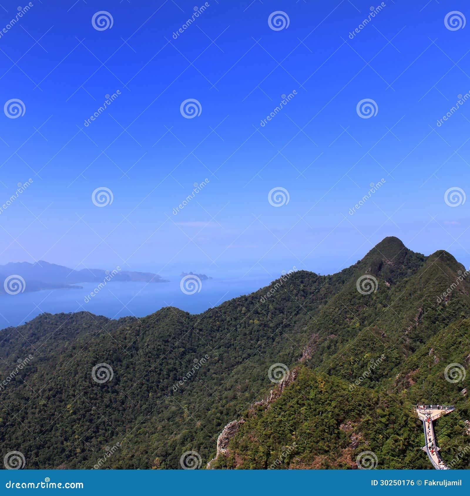 Langkawi Island: Mount Mat Cincang, Langkawi Island Stock Photo