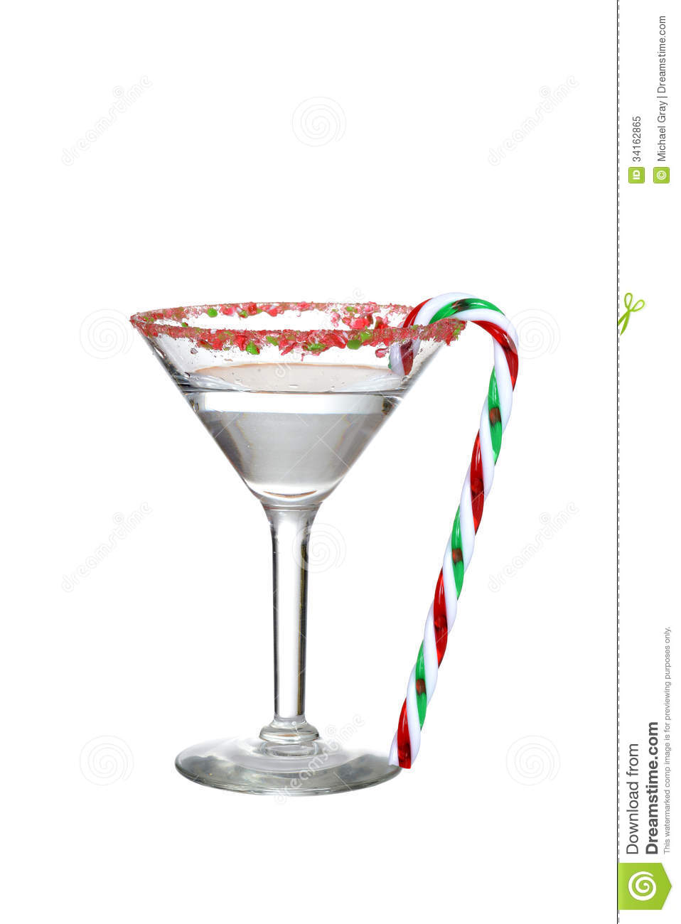 Clear Candy Cane Martini Royalty Free Stock Photo - Image: 34162865