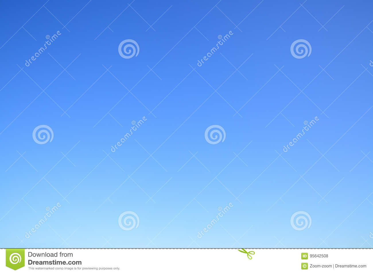 Clear cloudless blue sky