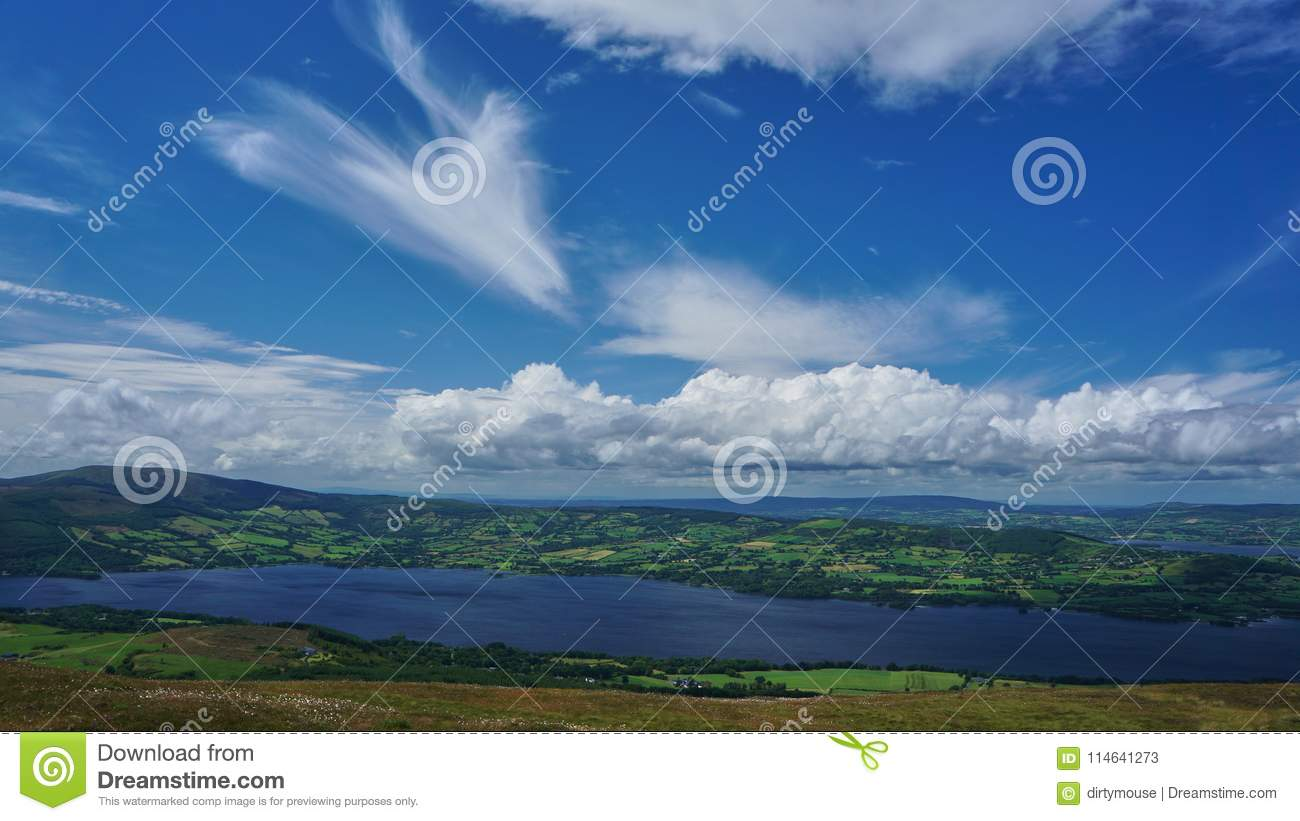 Download Looking At Ogonnelloe From Tountinna Stock Image - Image of cumulus, green: 114641273