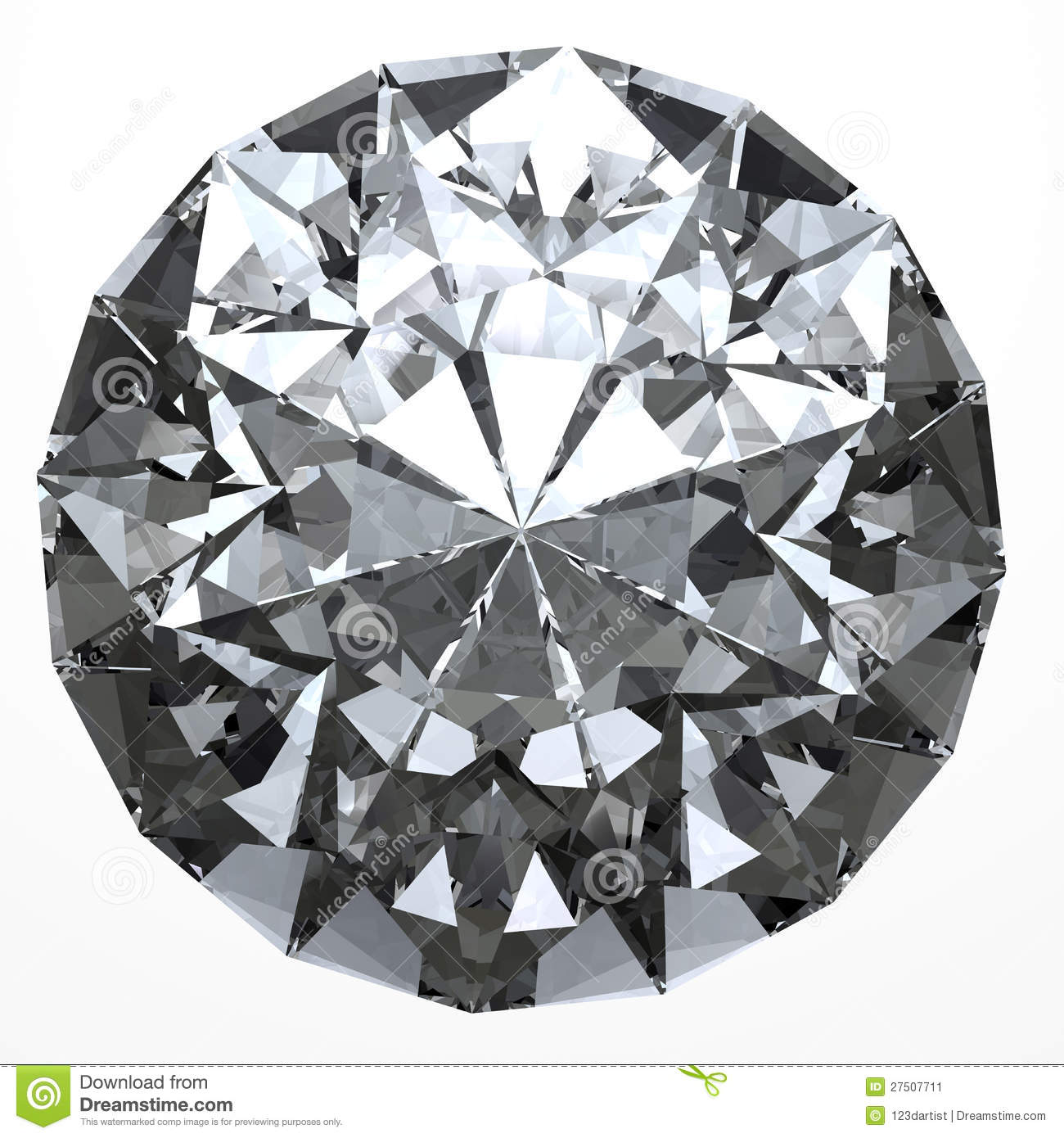 clear diamond top view stock illustration image of