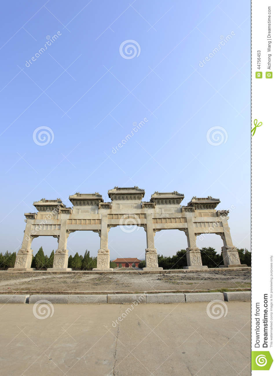 Clear dongling stone archway