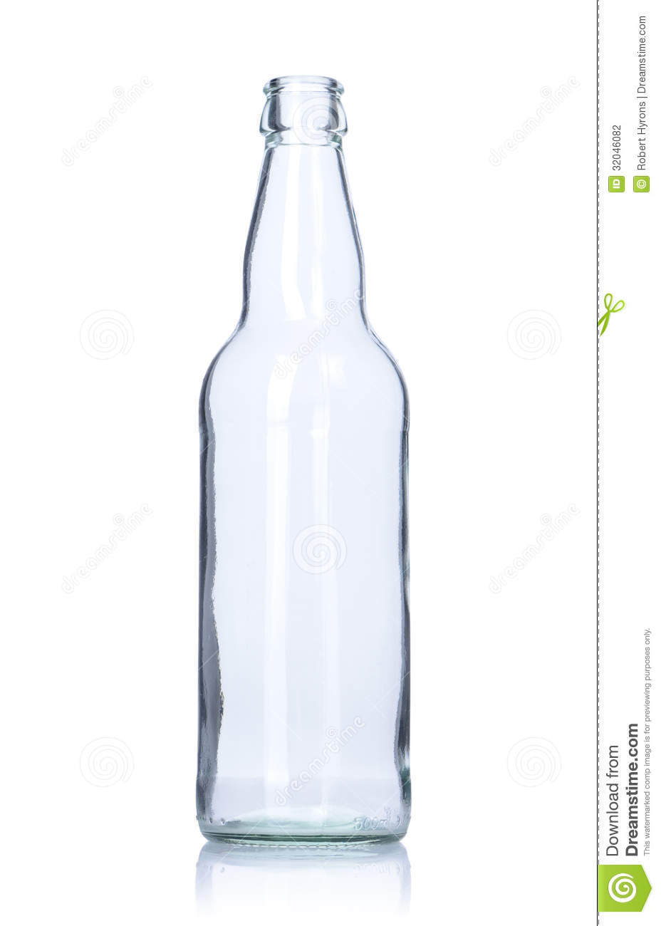 Clear Empty Glass Bottle Stock Photography - Image: 32046082