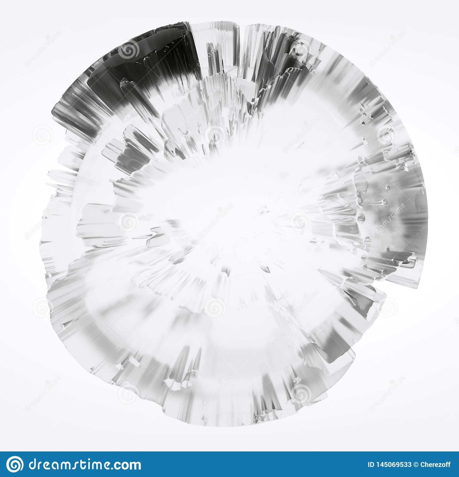 Clear glass Earth on white background