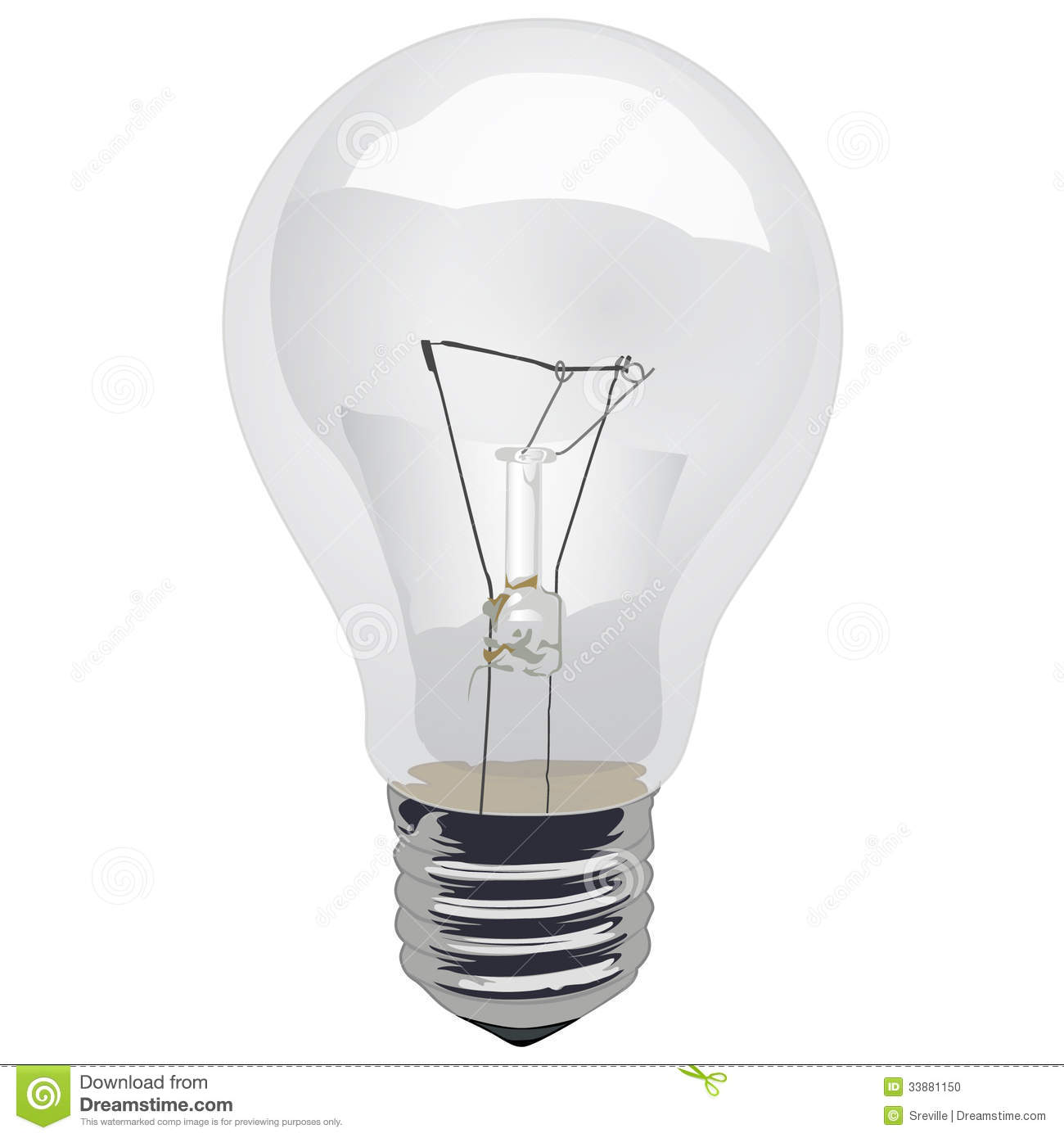 Clear Incandescent Light Bulb Stock Photo Image 33881150