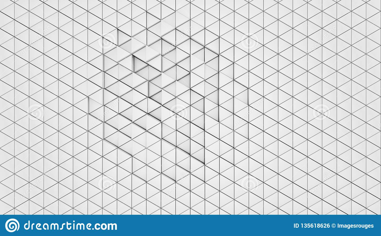 Clear Pattern Abstract Wall Background Triangle White