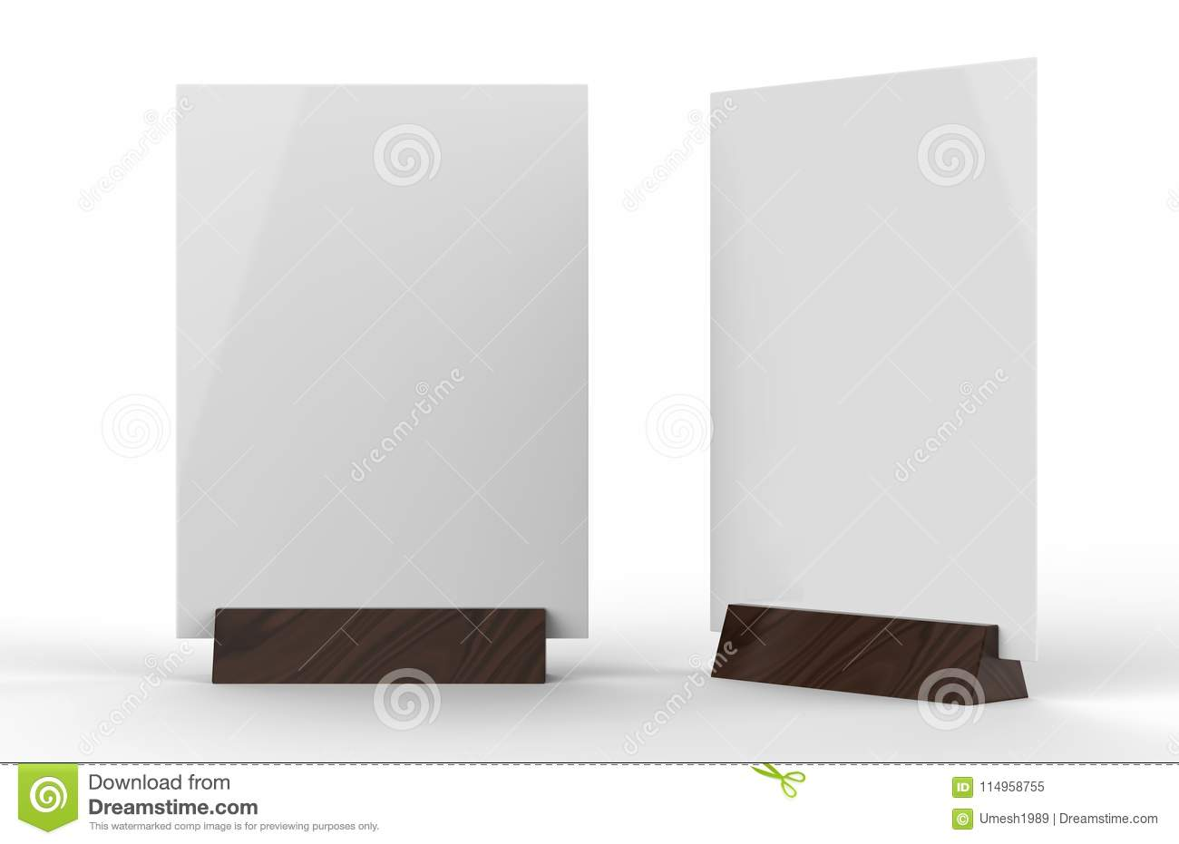 clear plastic and acrylic table talkers promotional upright menu