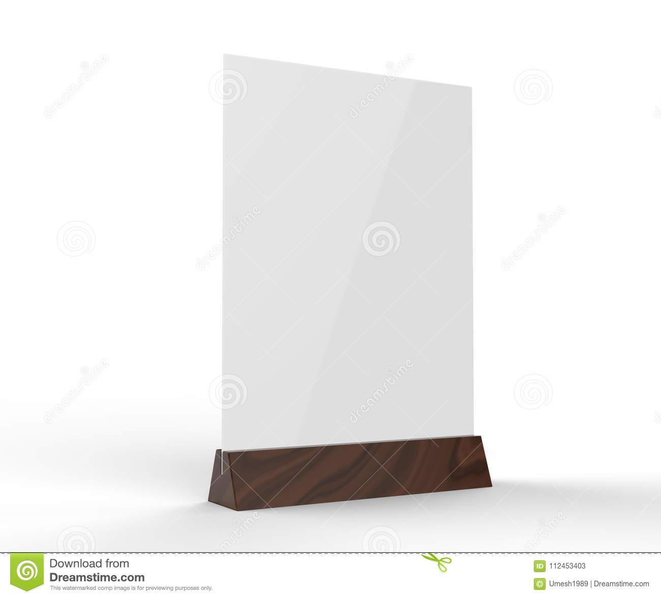 Clear Plastic And Acrylic Table Talkers Promotional Upright Menu - Acrylic table tents
