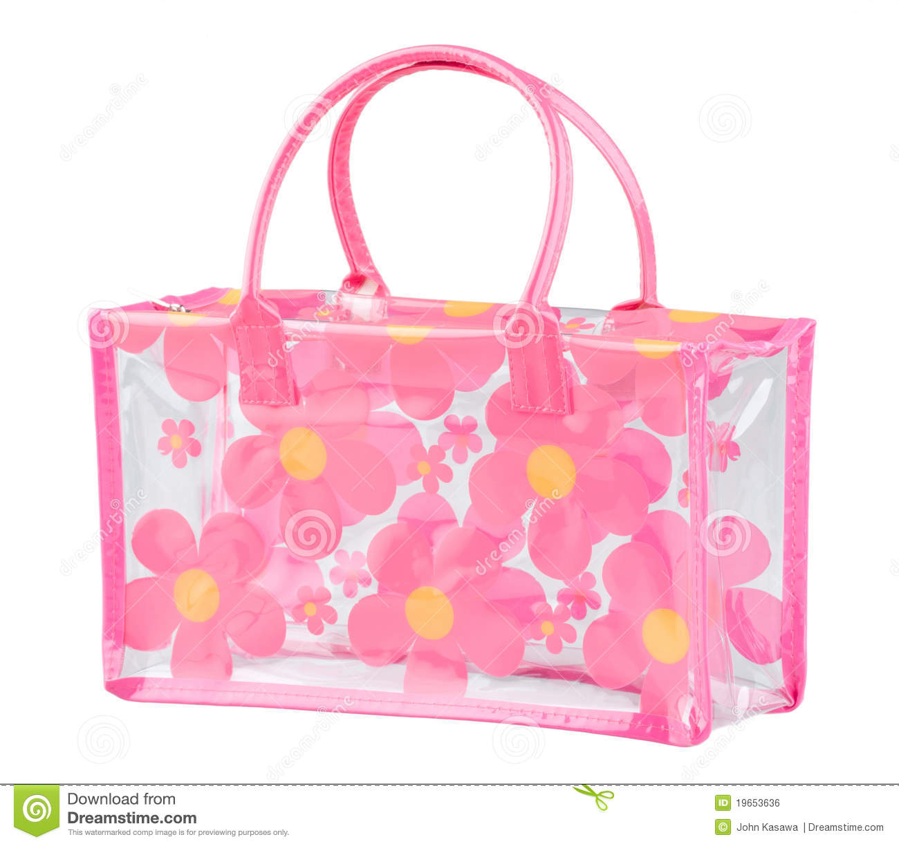 Clear Flower Pattern Plastic Bag Isolated Royalty Free Stock Image - Image: 19653636
