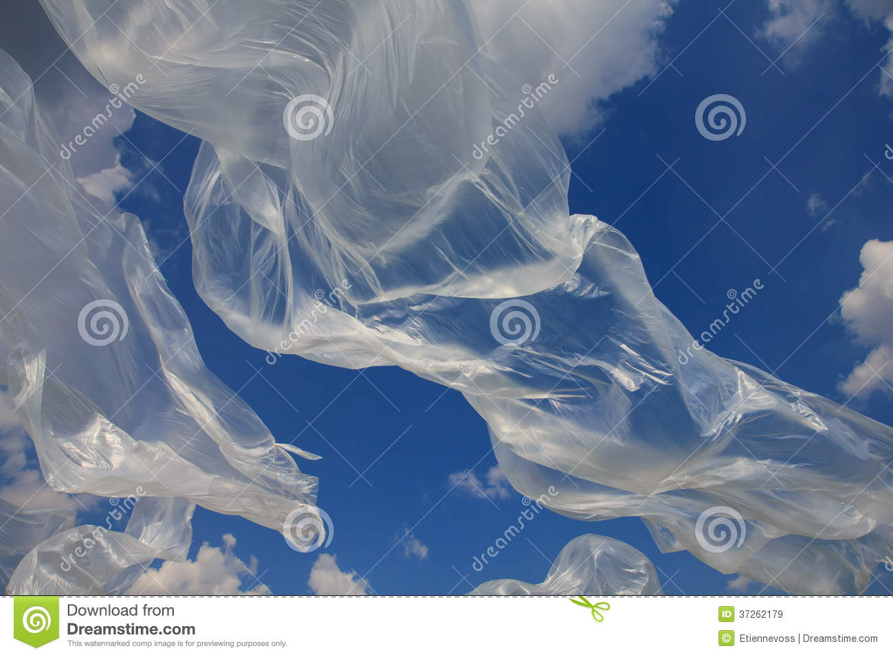Clear Plastic Sheet Blowing Royalty Free Stock Images