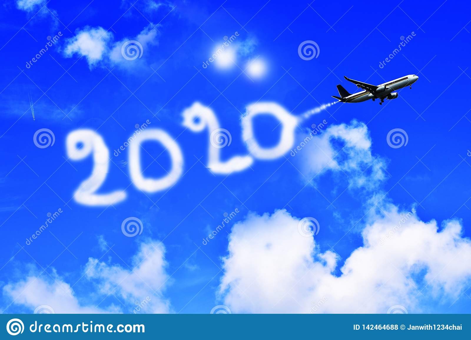 Wallpaper Happy New Year 2020 Stock Illustration