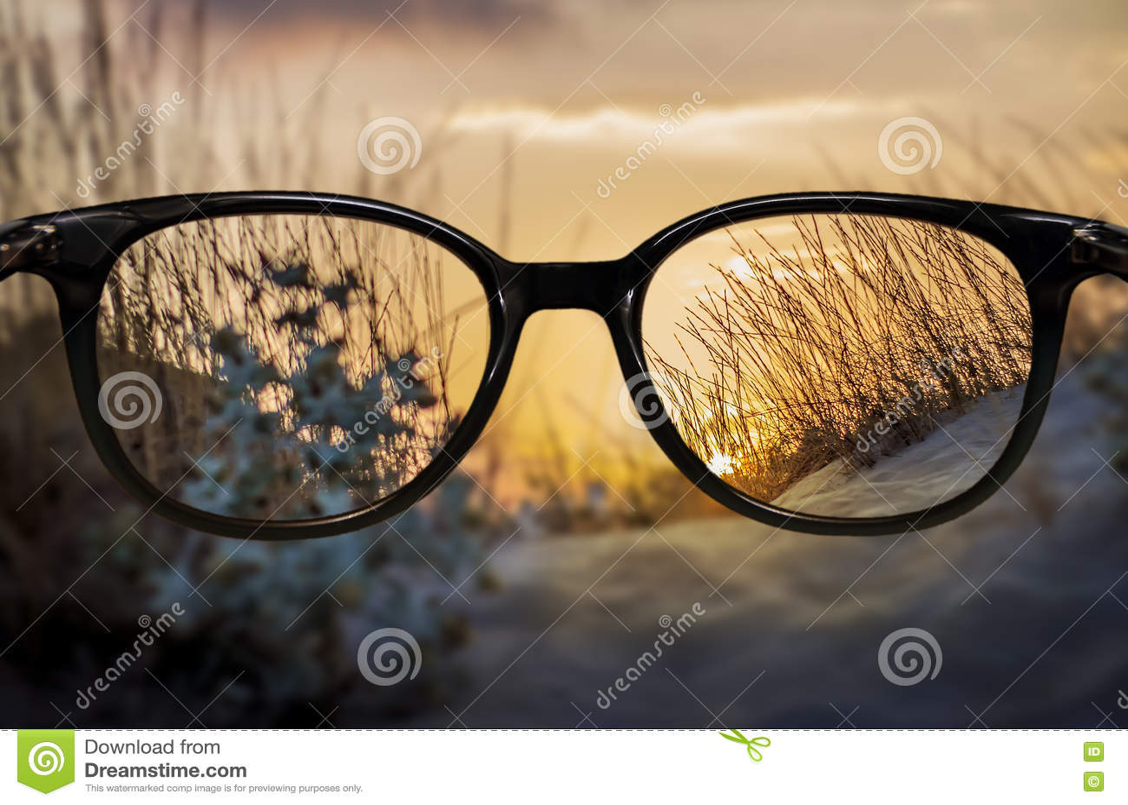 Clear vision through glasses