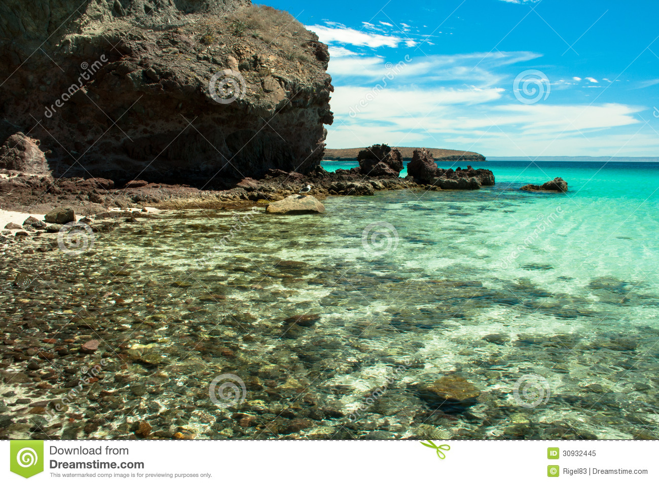 clear water on a tropical beach royalty free stock photo