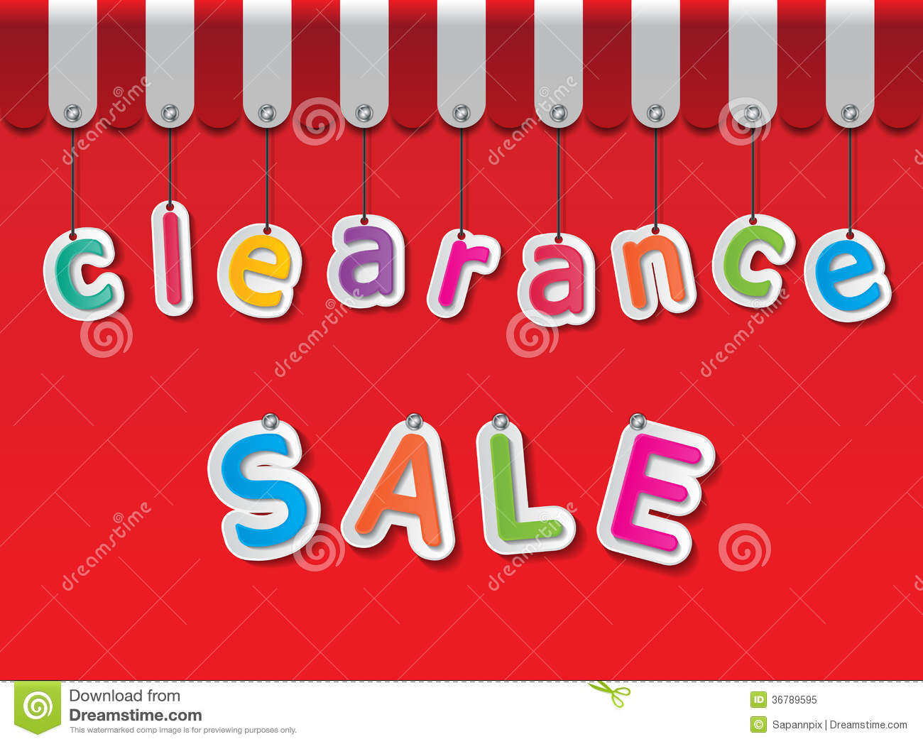 clearance-sale-colorful-paper-tags-red-background-awning-36789595 The White Beach House