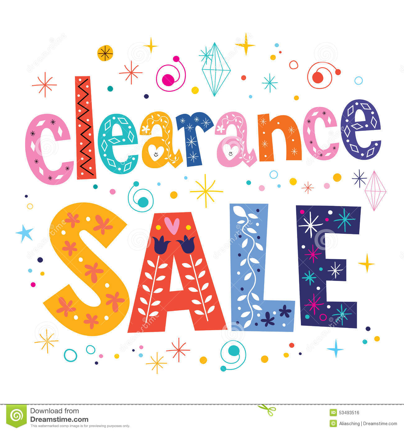 Clearance sale decorative lettering type design stock for Clearance craft supplies sale