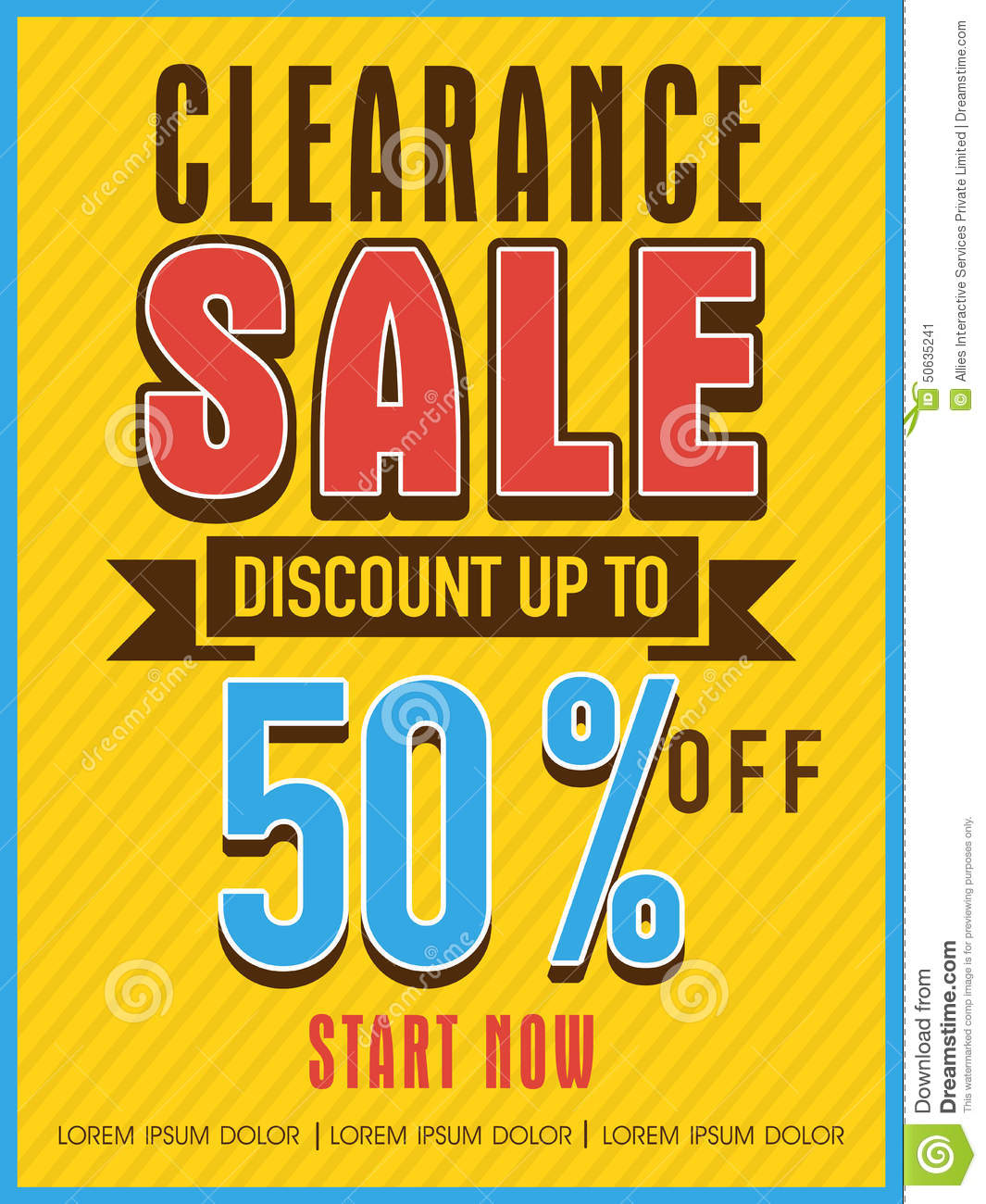 clearance sale flyer banner or template stock photo