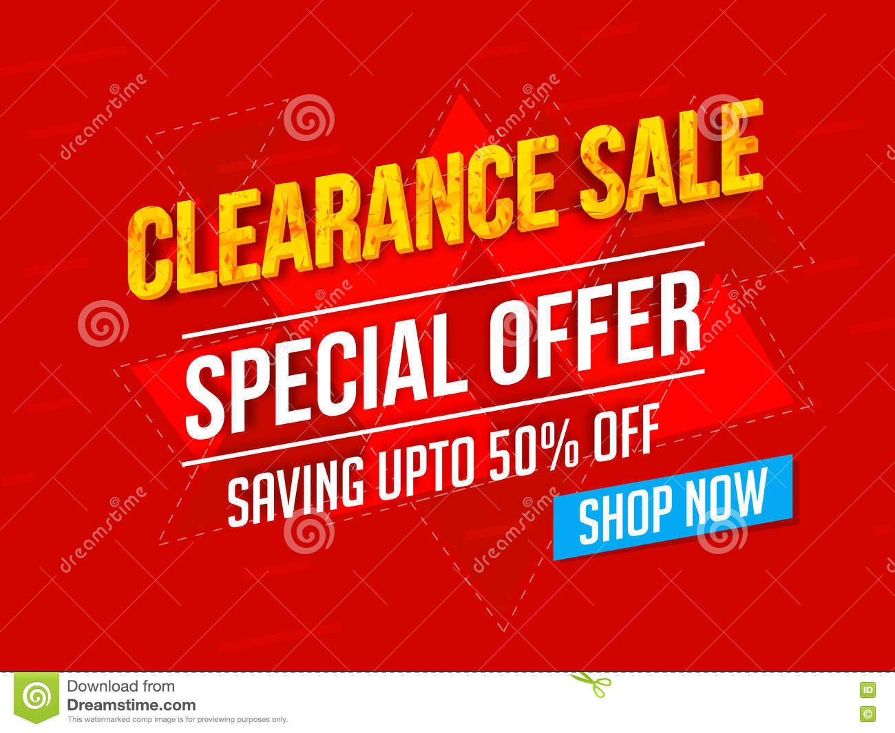 clearance poster banner or flyer design stock photo image clearance poster banner or flyer design