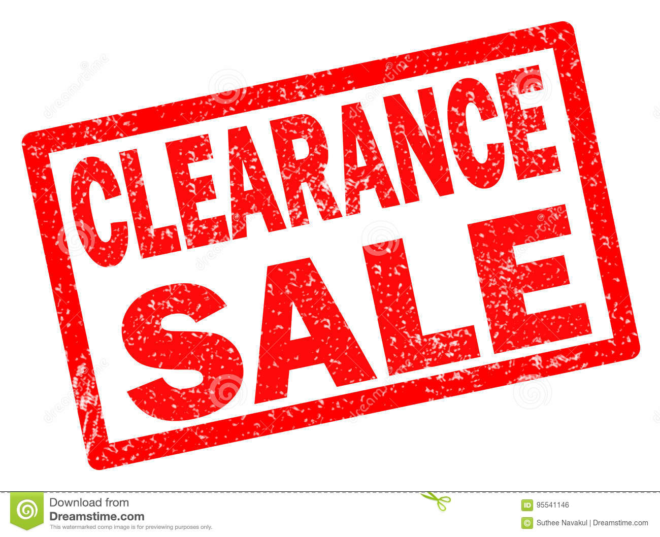 Clearance Sale Stamp On White Background. Stock ...
