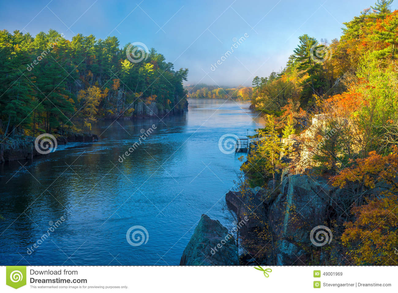 Home Water Filter >> Clearing Fog, St.croix River Royalty-Free Stock Photography | CartoonDealer.com #49001969