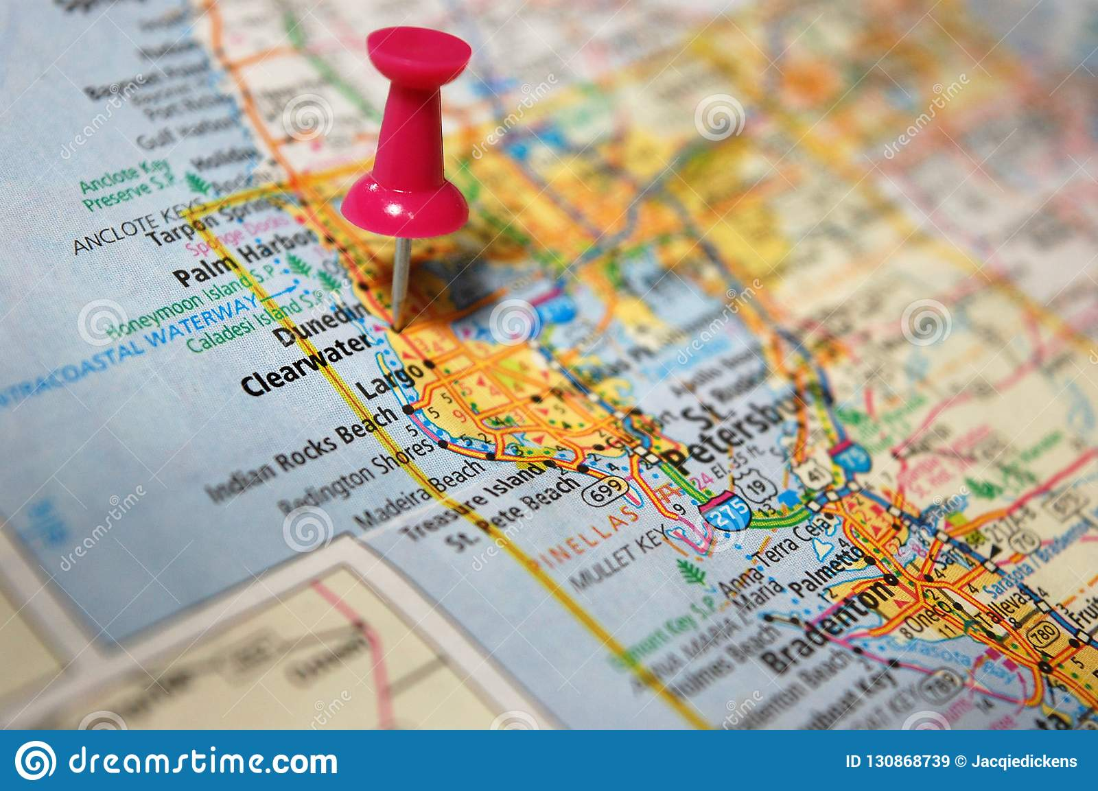 Clearwater Map Florida on