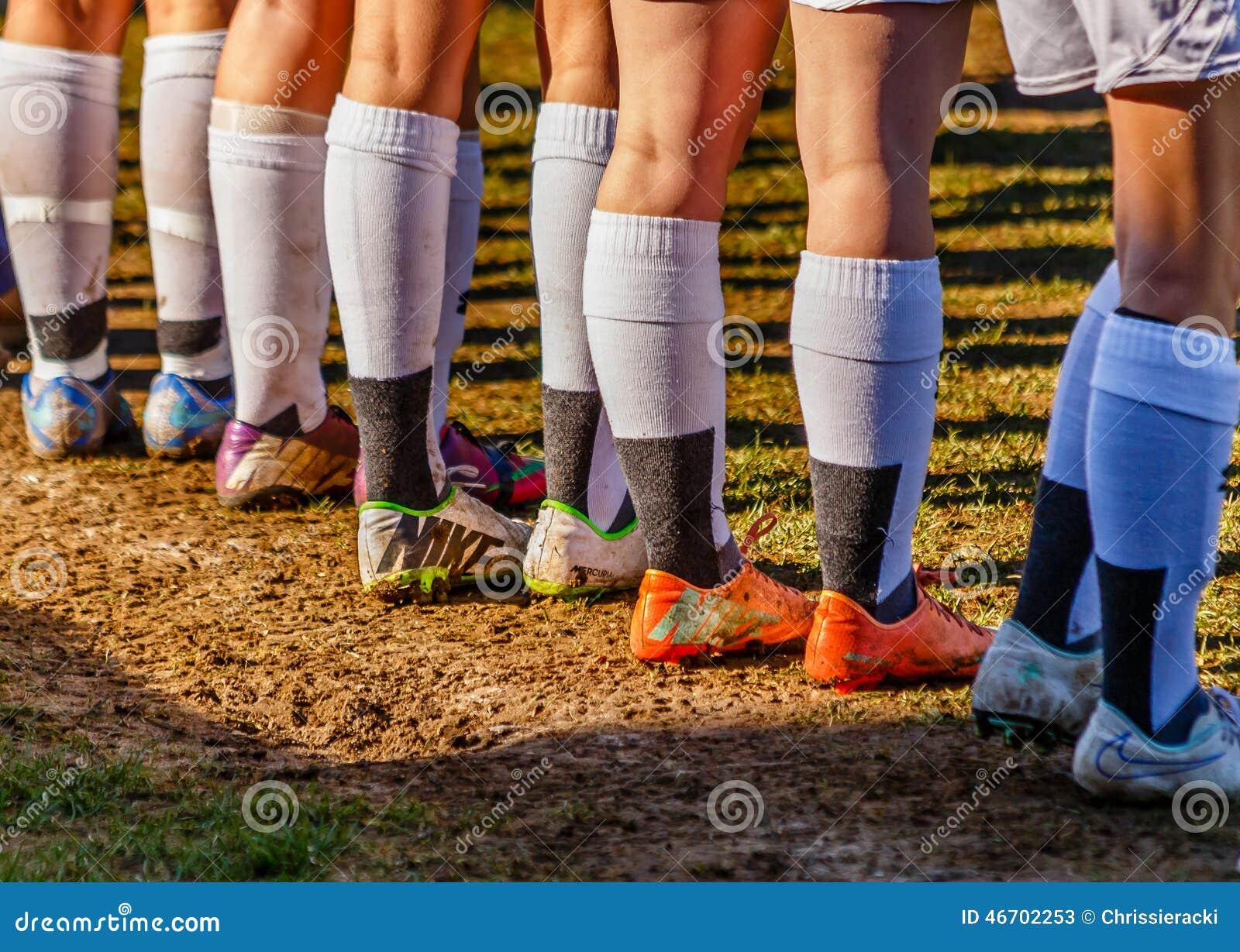 White soccer socks in mud - YouTube