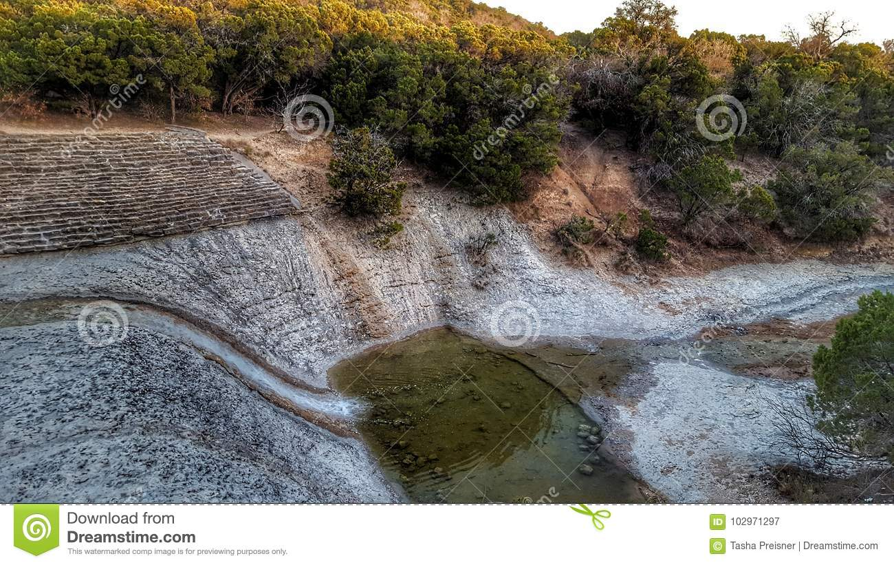 Waterfall texas state park stock image  Image of cleburne - 102971297