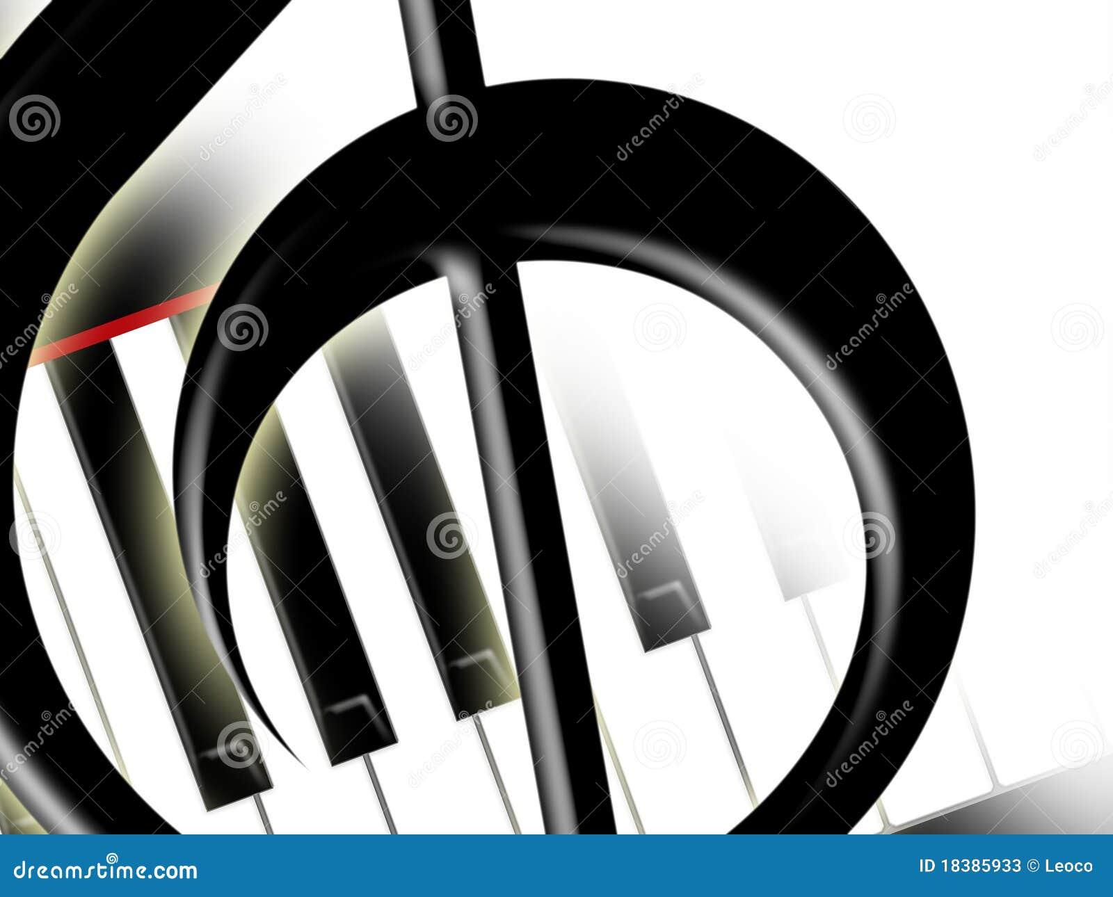 Clef пользуется ключом treble рояля