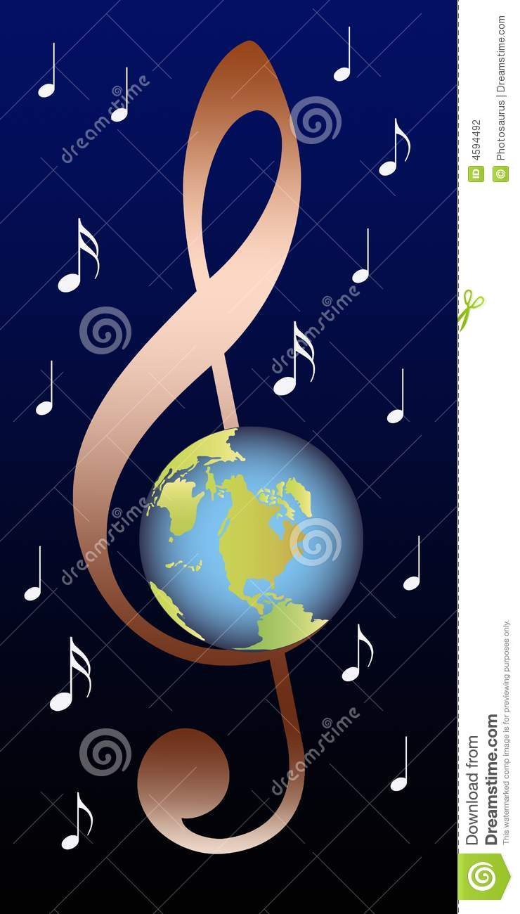 clef with earth stock photography