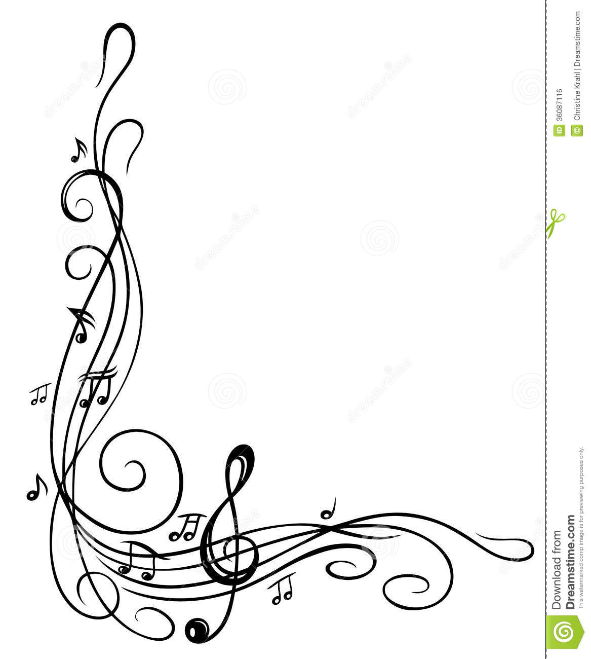 4a50685290016 Clef with music sheet and music notes
