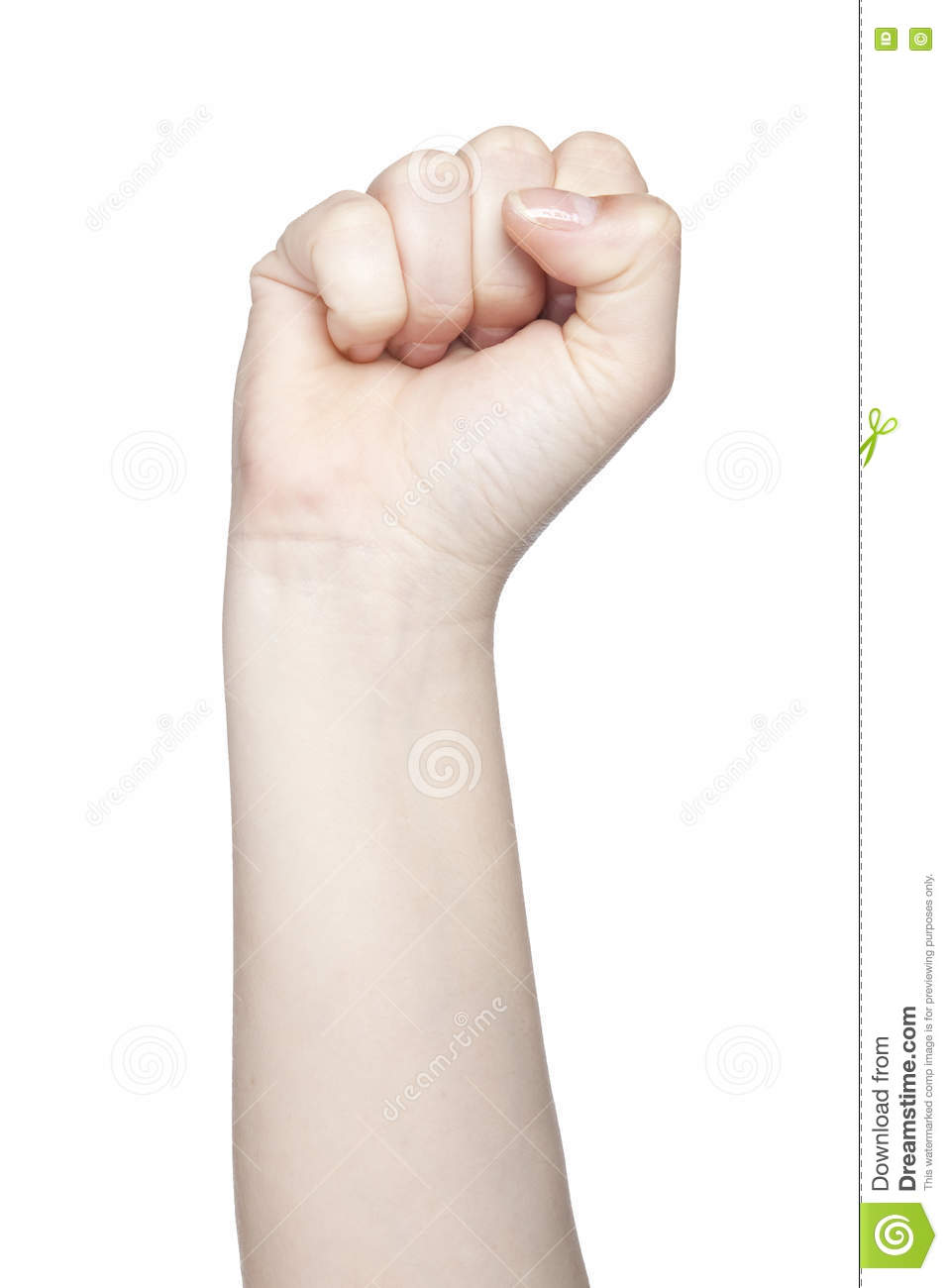 Clenched fist a symbol of strength and violence isolated on wh royalty free stock photo buycottarizona Choice Image