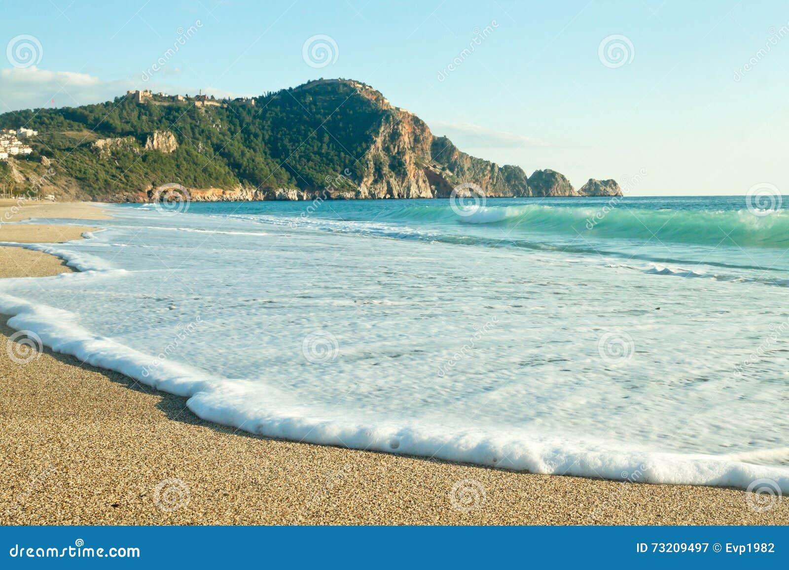 Extrem Cleopatra Beach (Kleopatra-Strand) In Alanya, Die Türkei Stockbild  ND67