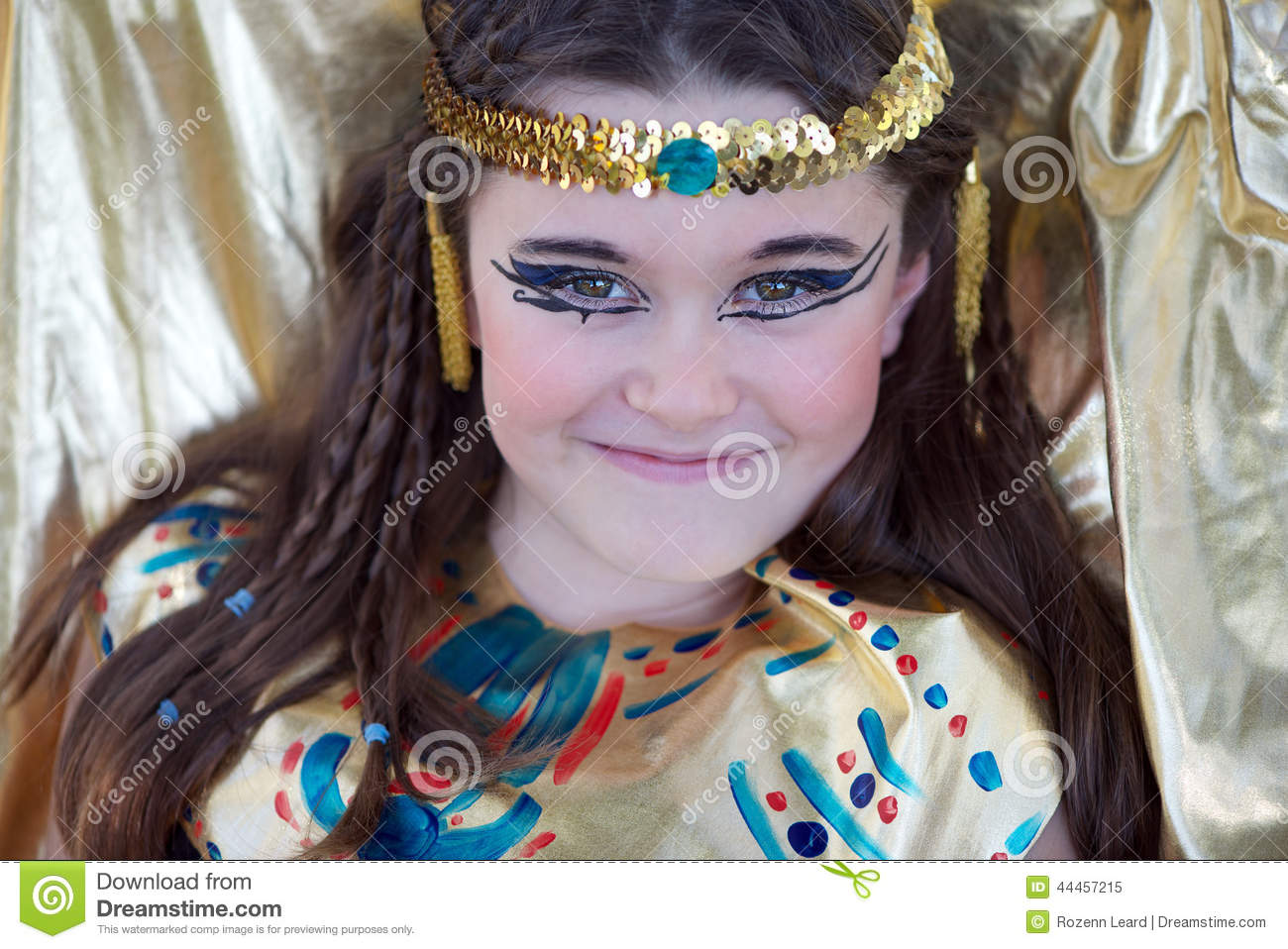Cleopatra Stock Image Of Caucasian Dress Pretty