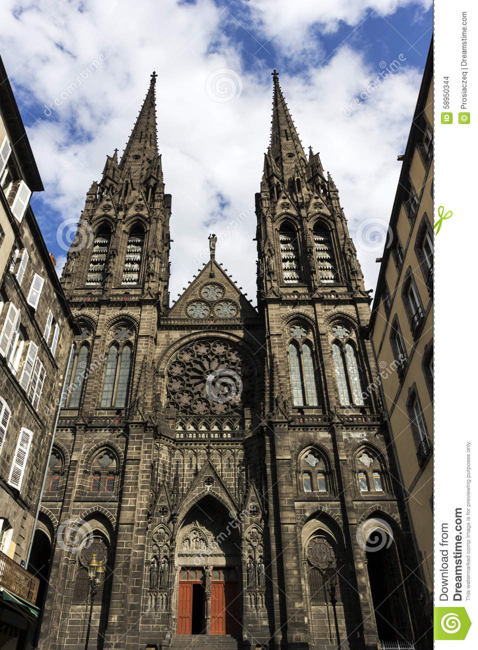 Clermont-Ferrand France  city images : Clermont Ferrand Cathedral In France Stock Photo Image: 58950344