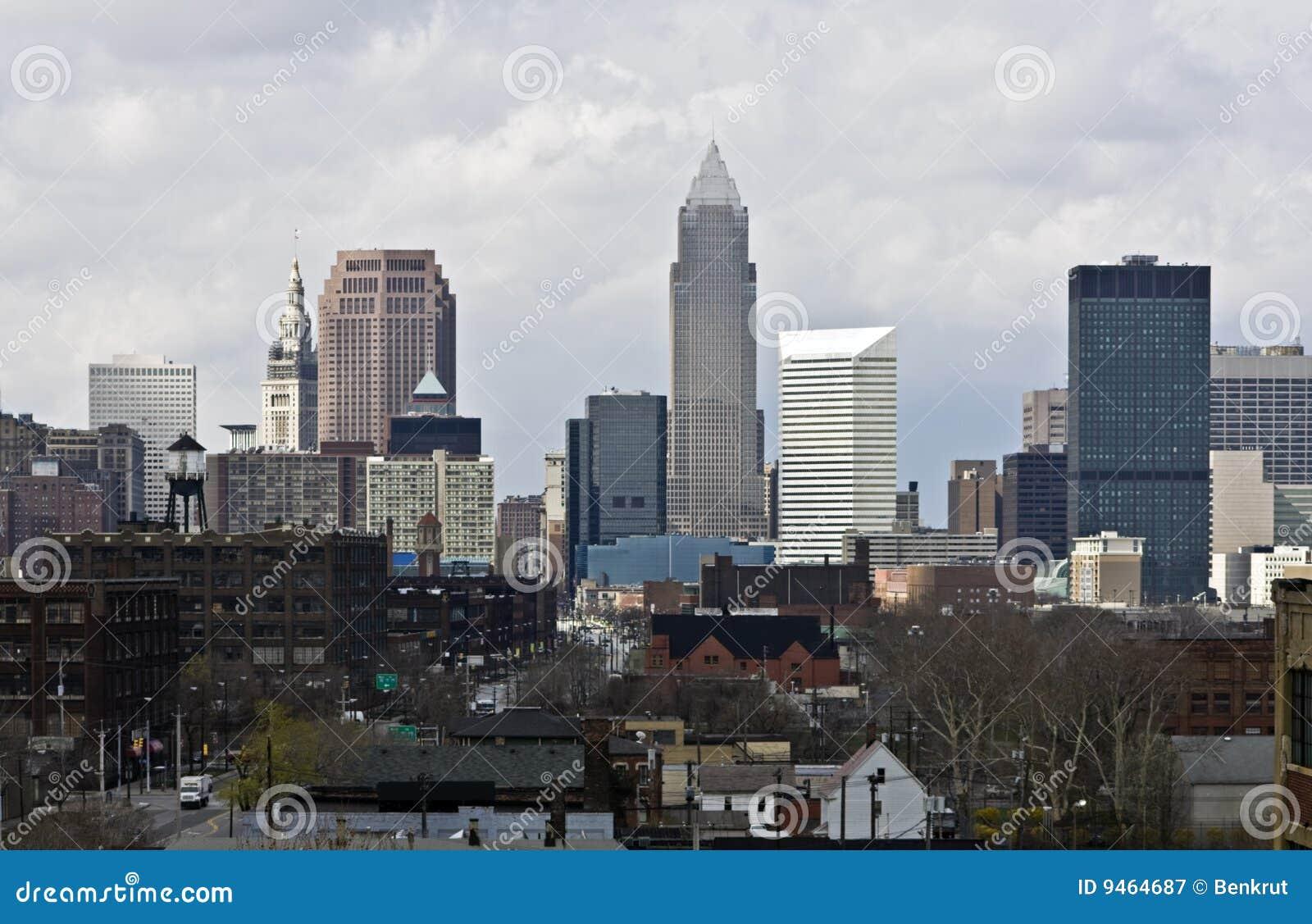 Cleveland chmurnieje śródmieście
