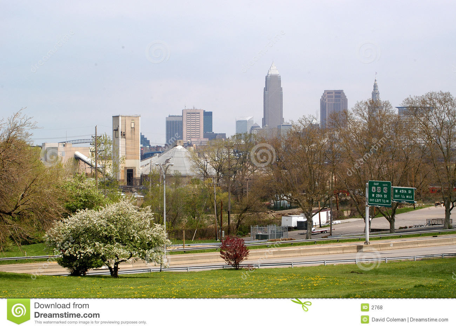 Cleveland del centro da lontano