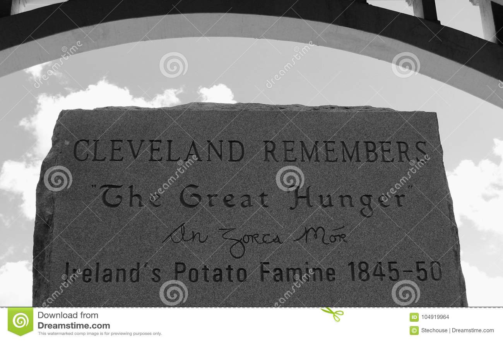 CLEVELAND HERINNERT de GROTE HONGER - de Aardappelhongersnood van Ierland ` s