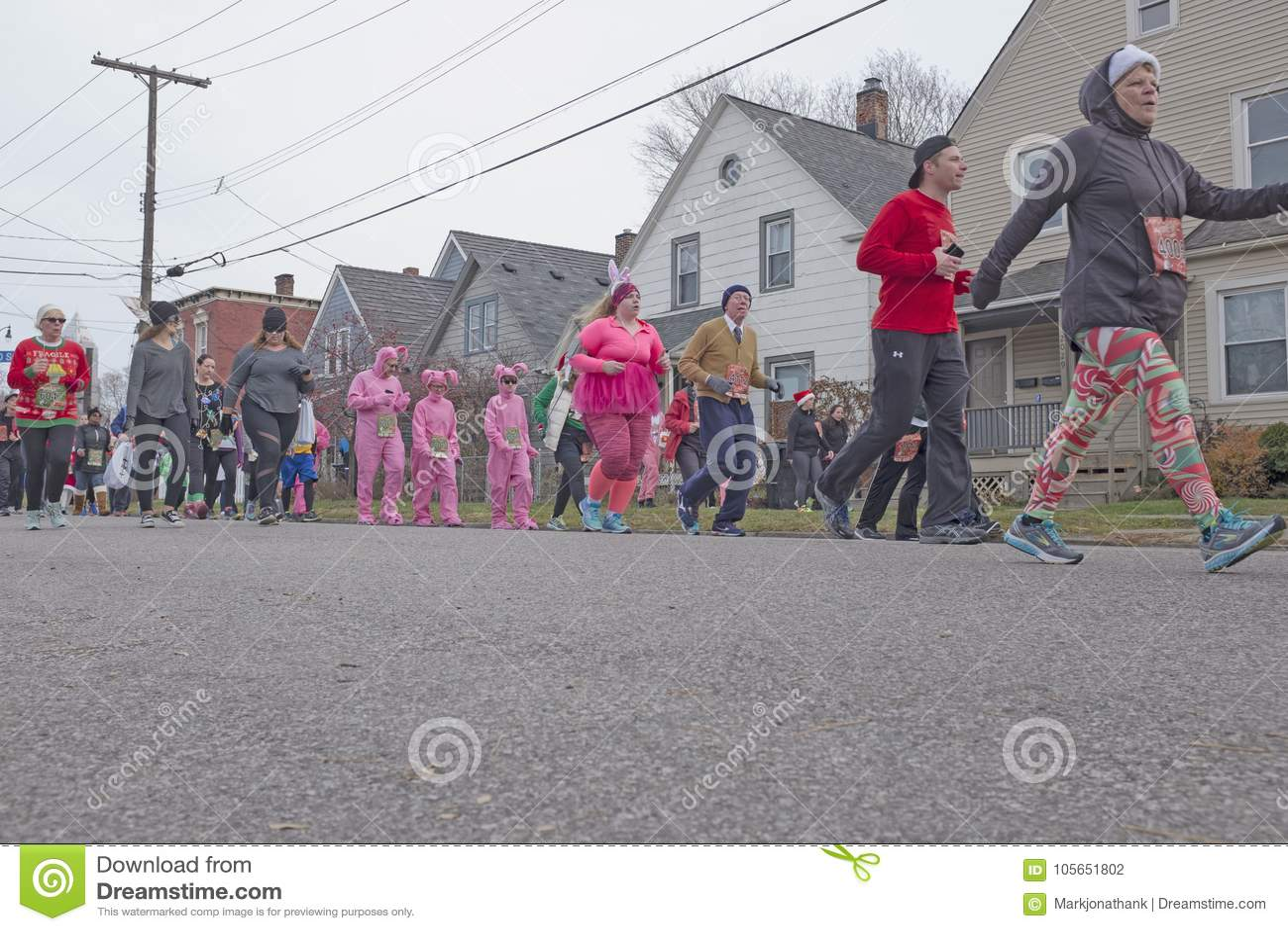 Cleveland Ohio `A Christmas Story` Fun Run/Walk Editorial