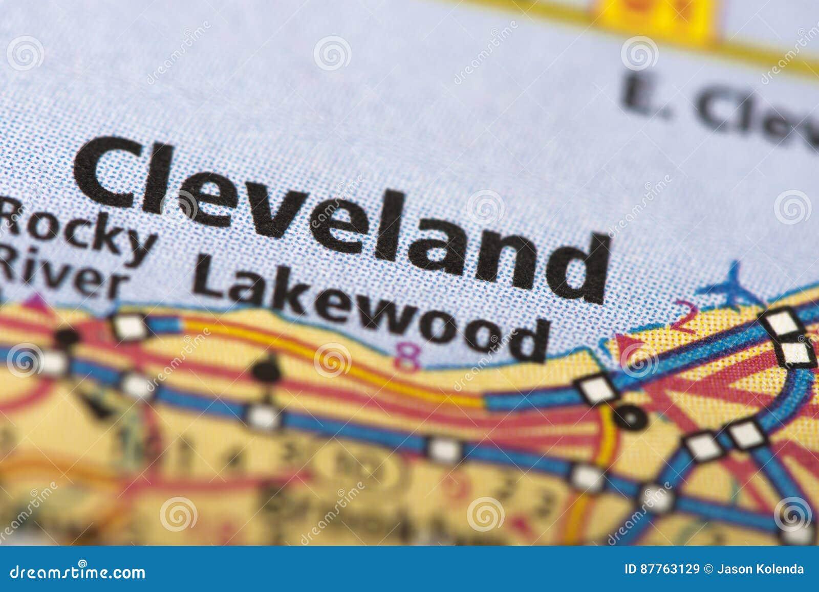 Cleveland, Ohio on map
