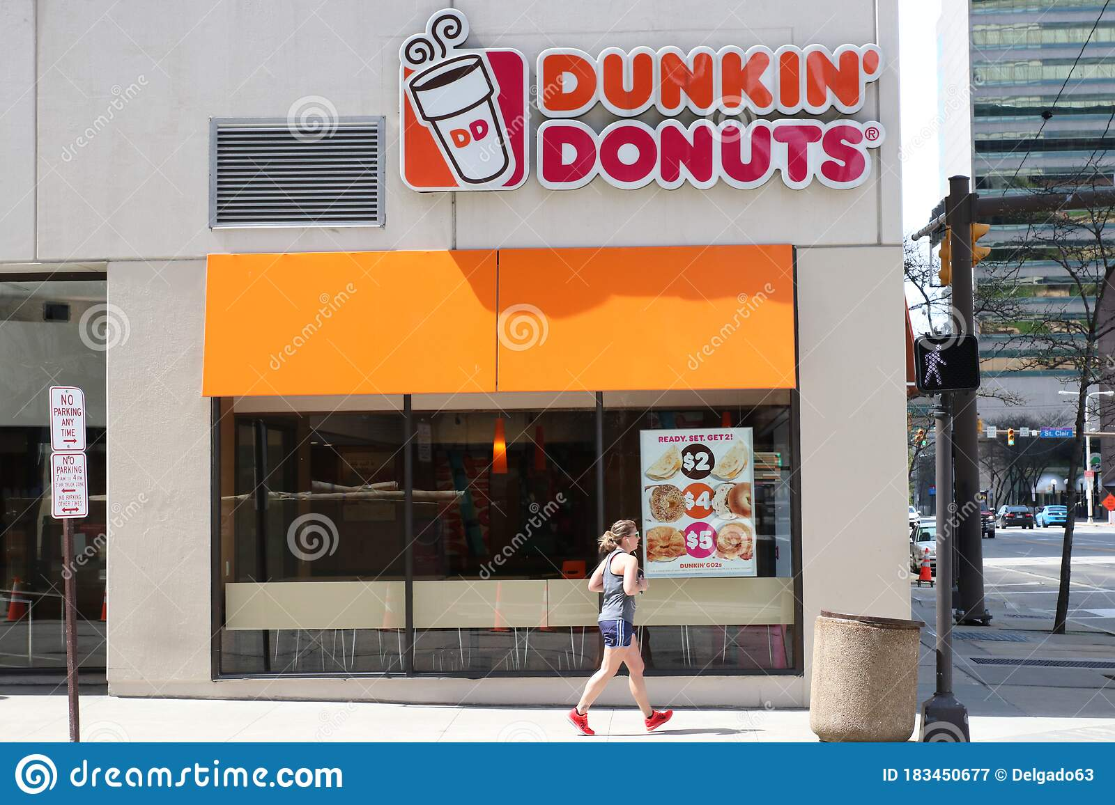 Cleveland, Ohio May 17, 2020 Dunkin`Donuts Coffee Shop ...