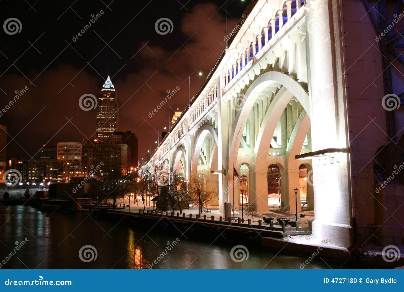 Cleveland Ohio At Night