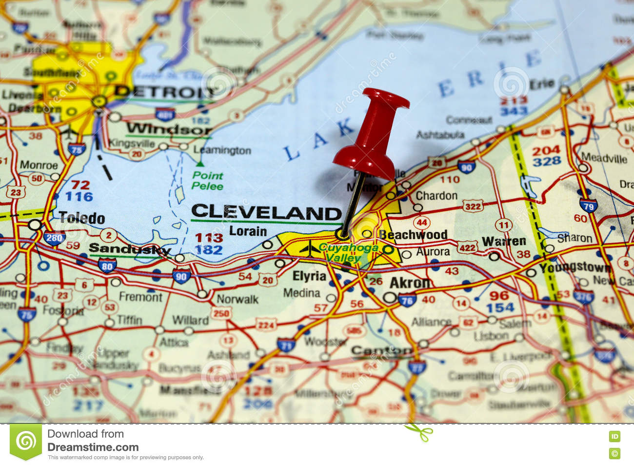 Cleveland On Us Map on