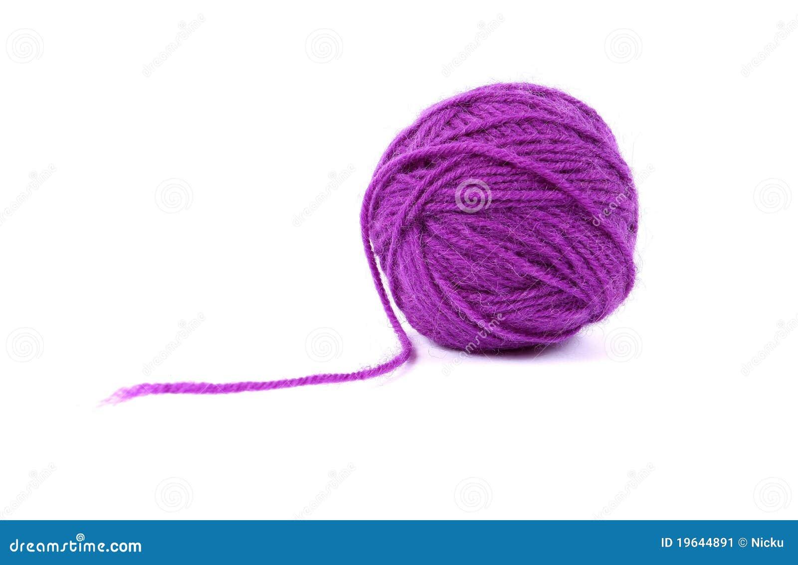Clew van de bal van mauve wol