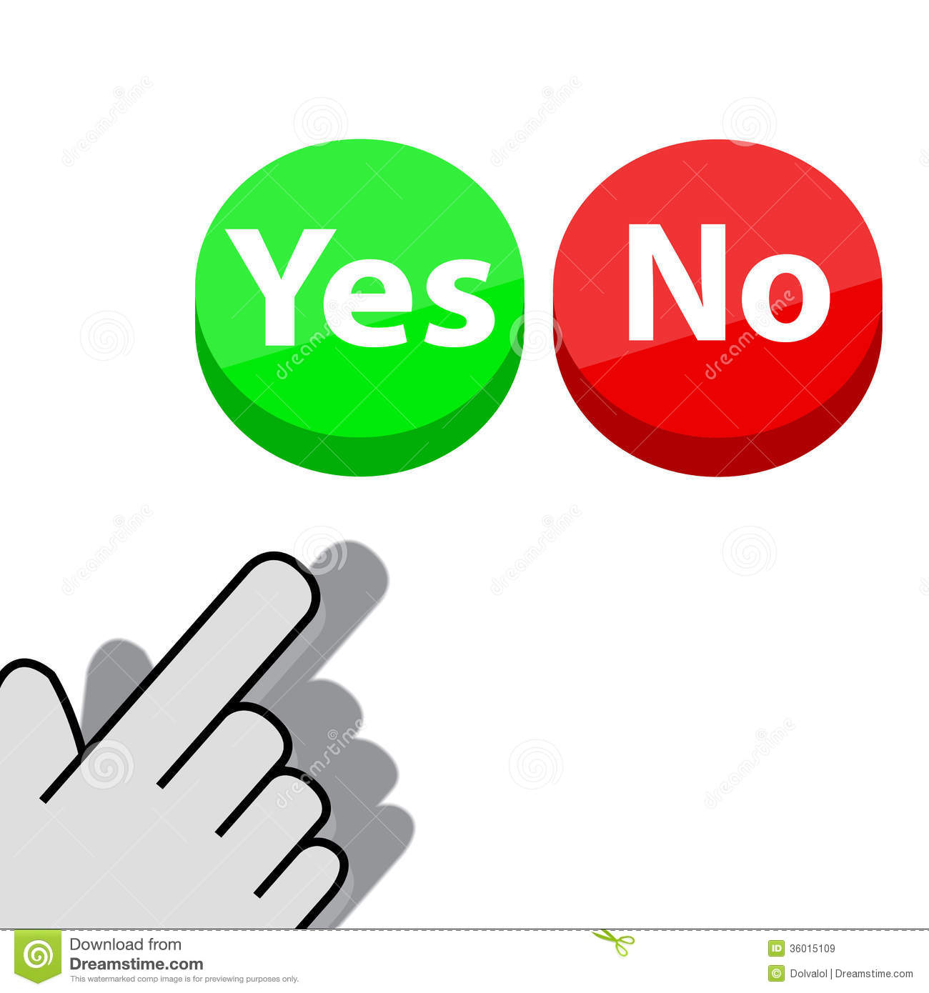 Click on button Yes or No