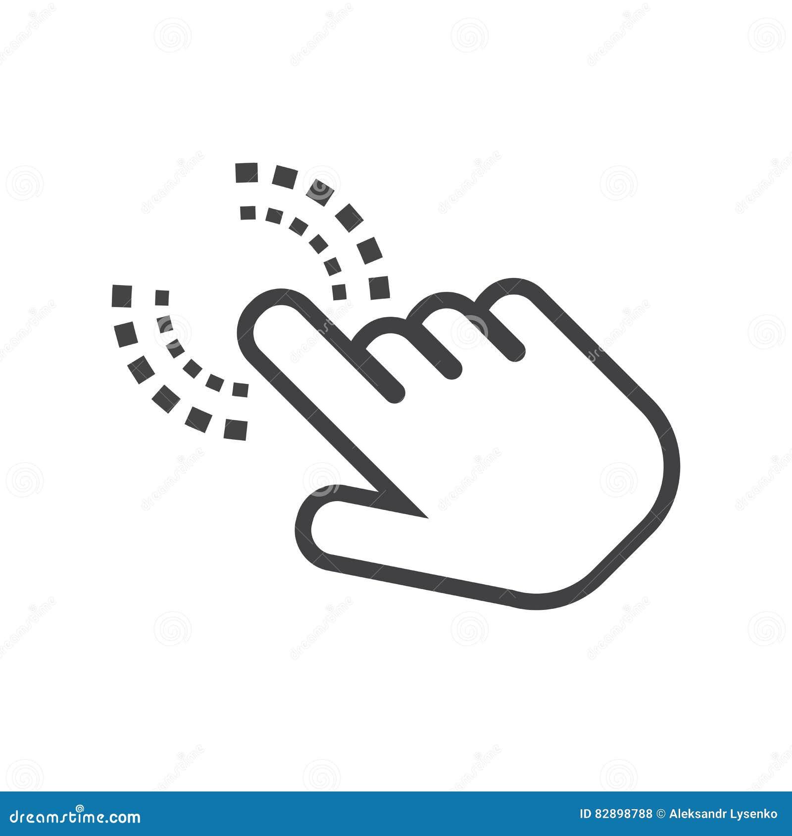 Click hand icon. Cursor finger sign flat vector.