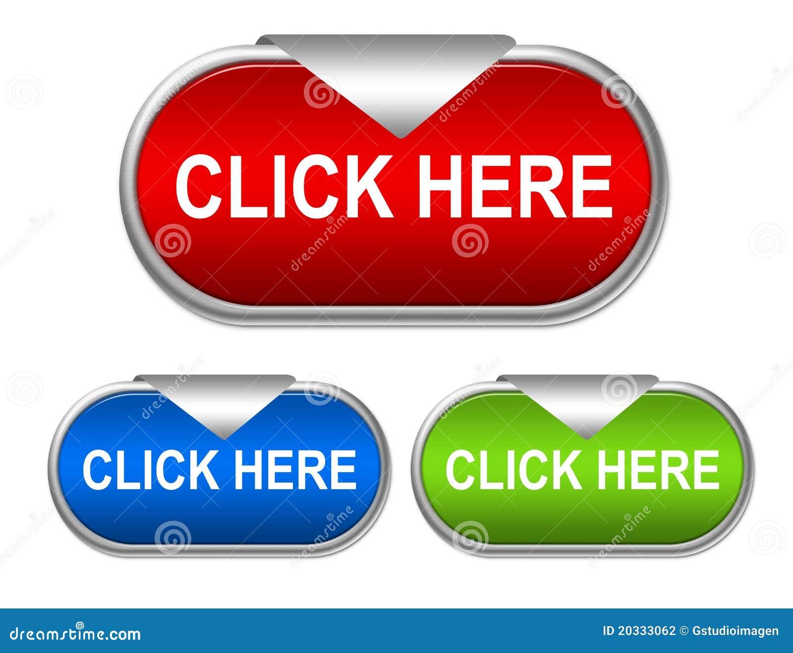 click here button stock illustration image of design 20333062. Black Bedroom Furniture Sets. Home Design Ideas