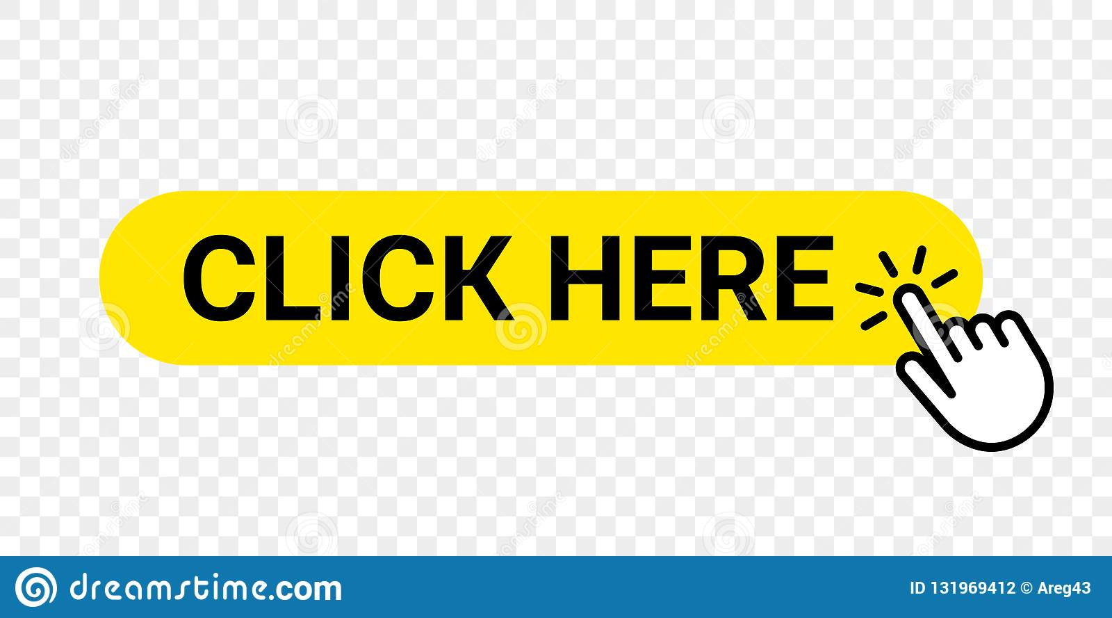 Click Here Vector Web Button. Isolated Website Buy Or ...