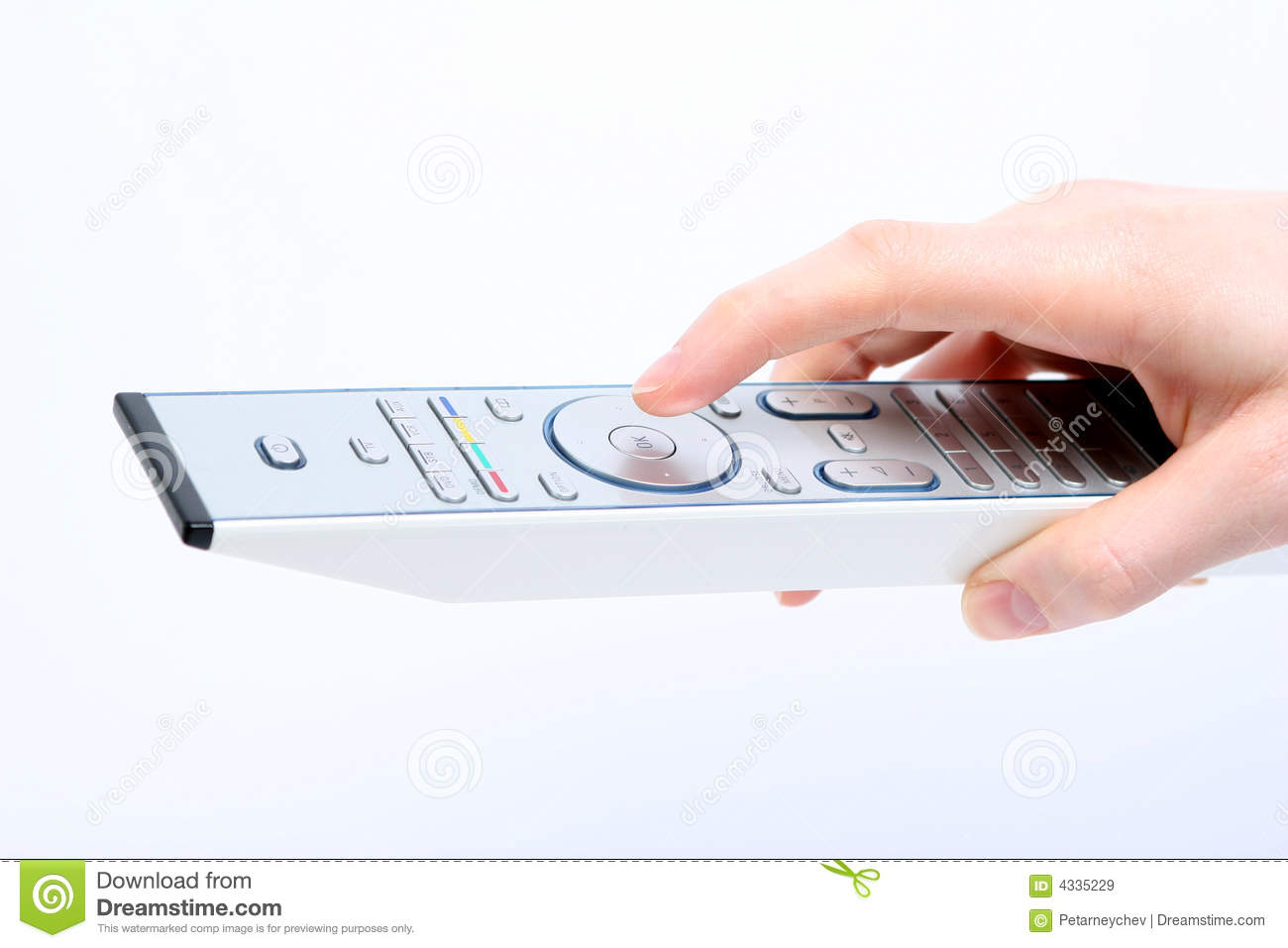 Clicking OK on the TV Remote