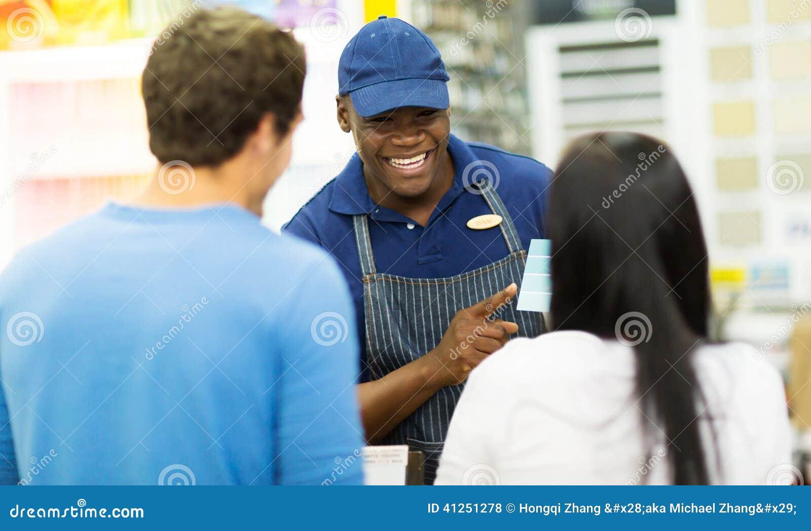 Cliente de ajuda do assistente de loja